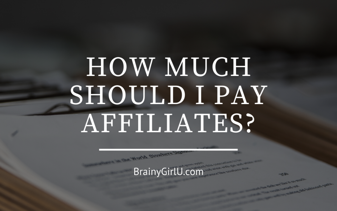 how much should i pay my affiliates