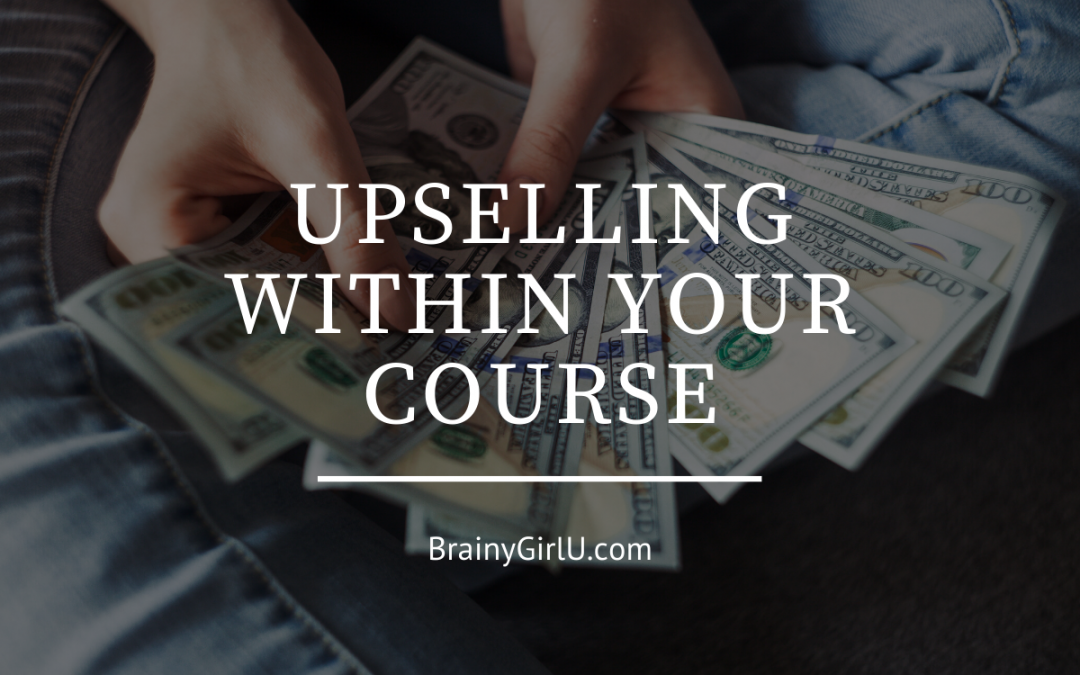 upselling within your online course
