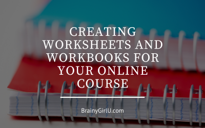 Creating Worksheets and Workbooks For Your Online Course