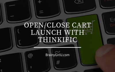 Open/Close Cart Launch with Thinkific